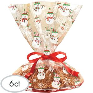 Snowman Treat Tray Bags 6ct - Very Merry