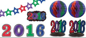 Colorful 2017 New Year's Room Decorating Kit 10pc