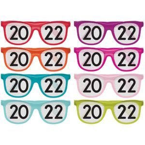 Colorful 2017 Printed Glasses 8ct
