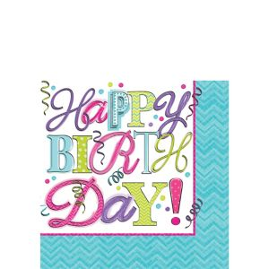 Sweet Birthday Beverage Napkins 16ct