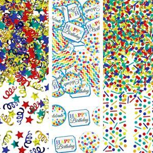 Rainbow Dot & Chevron Birthday Confetti