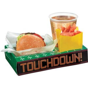Football Field Snack Box Trays 8ct
