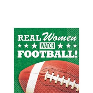 Real Women Watch Football Beverage Napkins 16ct