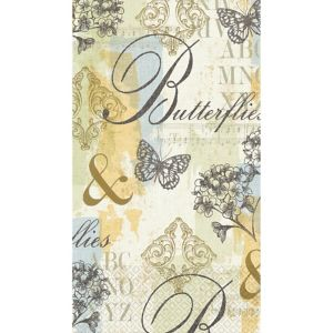 Butterfly Collage Guest Towels 16ct