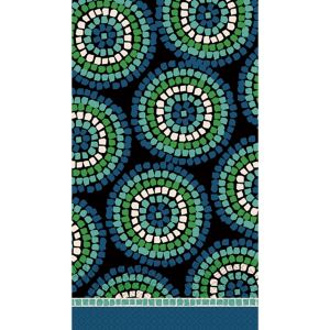 Round Mosaic Guest Towels 16ct