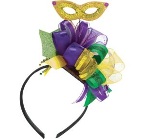 Masquerade Mask Mardi Gras Fascinator Headband