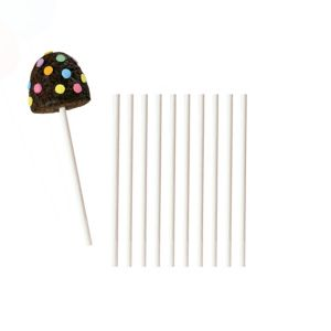 White Lollipop Sticks 50ct