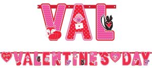 Woodland Friends Valentine's Day Letter Banner