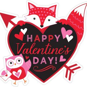 Woodland Friends Happy Valentine's Day Cutout