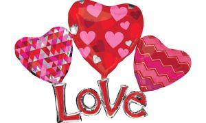 Hearts & Love Balloon - Giant