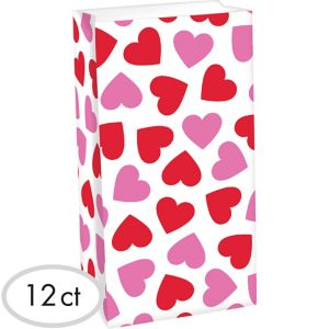 Pink & Red Heart Treat Bags 12ct