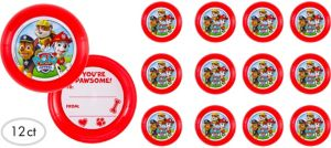 PAW Patrol Flying Disc Valentines 12ct