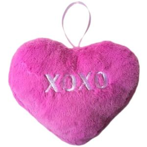 Purple Hugs & Kisses Plush Conversation Heart