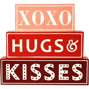 Hugs & Kisses Block Sign