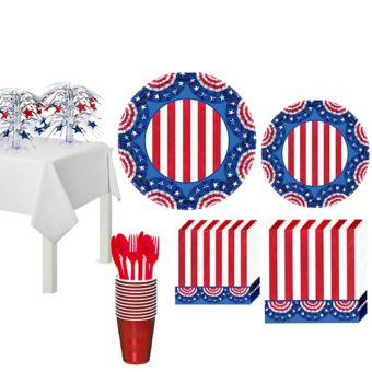 American Pride Patriotic Basic Party Kit for 50 Guests