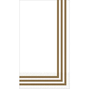 Gold Classic Stripe Premium Guest Towels 16ct