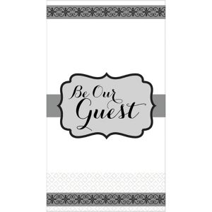 Silver Be Our Guest Premium Guest Towels 16ct
