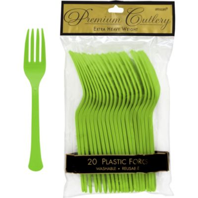 Kiwi Premium Plastic Forks 20ct