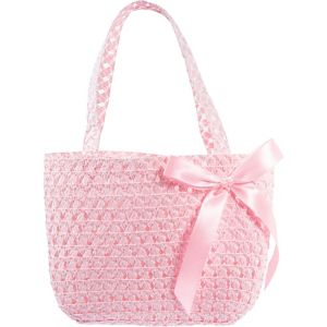 Pink Woven Easter Basket Purse