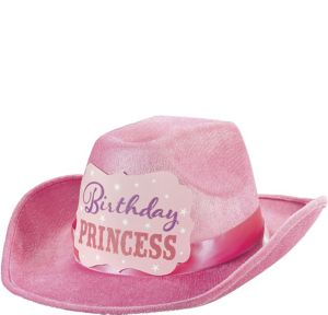 Pink Birthday Princess Cowboy Hat