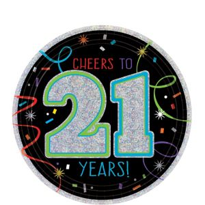Brilliant 21st Birthday Dessert Plates 8ct