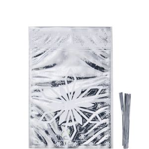 Silver Snowflake Treat Bags 8ct