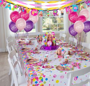 Barbie Party Supplies Super Party Kit for 8 Guests