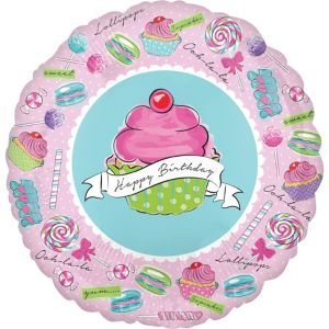Happy Birthday Balloon - Pastel Birthday Sweets