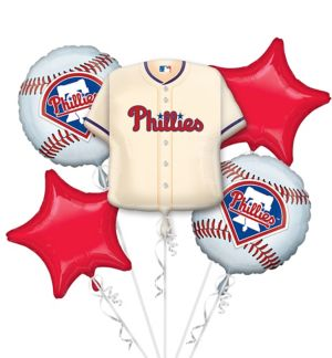Philadelphia Phillies Balloon Bouquet 5pc - Jersey