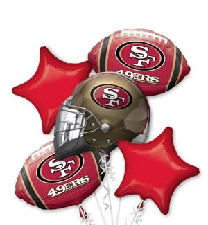 San Francisco 49ers Balloon Bouquet 5pc