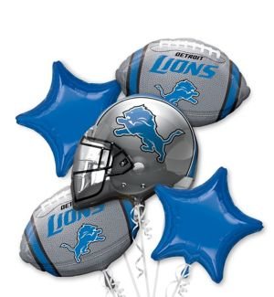 Detroit Lions Balloon Bouquet 5pc