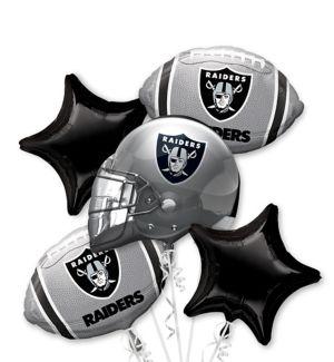 Oakland Raiders Balloon Bouquet 5pc