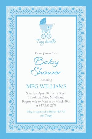 Custom Celebrate Baby Boy Invitation