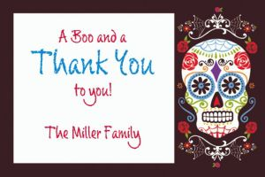 Custom Day of the Dead Thank You Note