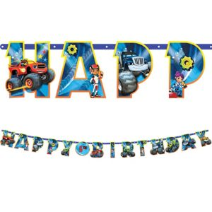 Blaze and the Monster Machines Birthday Banner Kit