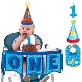 All Aboard 1st Birthday Smash Cake Kit