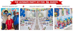 Nintendo Super Mario Party Supplies Ultimate Party Kit for 16 Guests