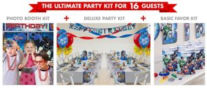 Justice League Ultimate Party Kit for 16 Guests