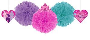 Disney Princess Fluffy Decorations 3ct