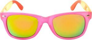 Pink Color Block Mirrored Sunglasses