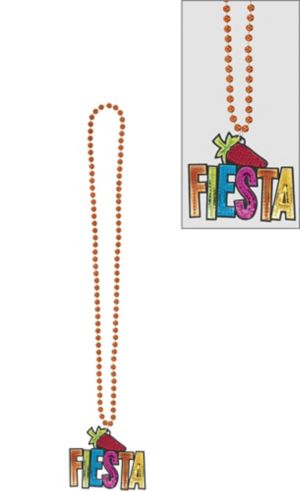 Fiesta Chili Pepper Pendant Bead Necklace