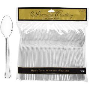 CLEAR Premium Plastic Spoons 48ct