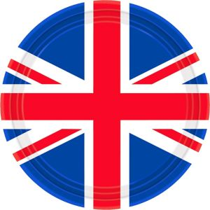 Union Jack Lunch Plates 8ct - Great Britain