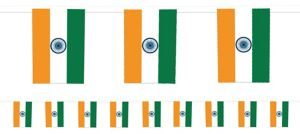 Indian Flag Pennant Banner