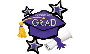 Purple Star Graduation Cap Balloon