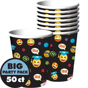 Smiley Graduation Cups 50ct