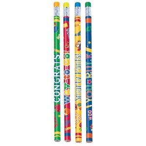 Schoolhouse Chalkboard Graduation Pencils 12ct
