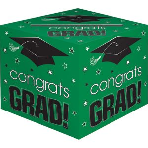 Green Graduation Card Holder Box - Congrats Grad