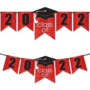 Glitter Red Graduation Year Banner Kit - Congrats Grad