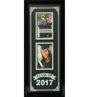 Black Class of 2017 Silk Screened Graduation Photo Frame